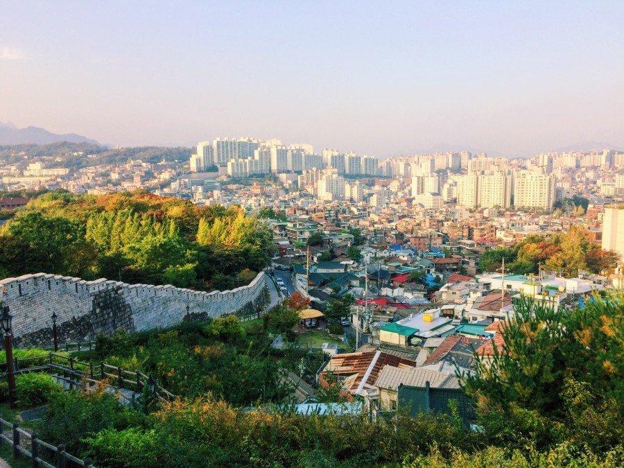 首爾IG景點 :駱山公園城郭