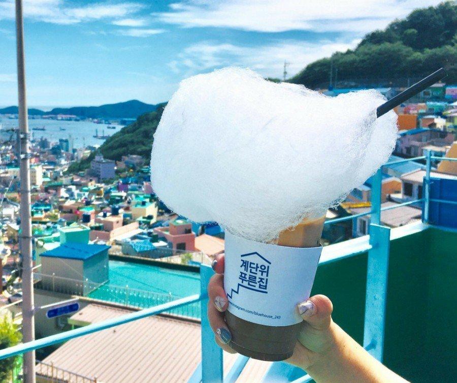 釜山IG景點 :甘川文化村 Blue House Cafe