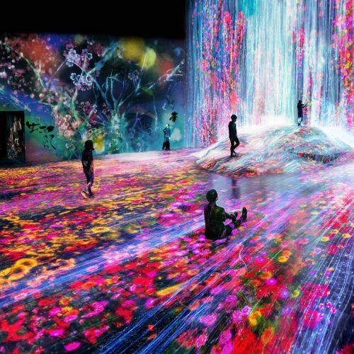 東京teamlab 瀑布