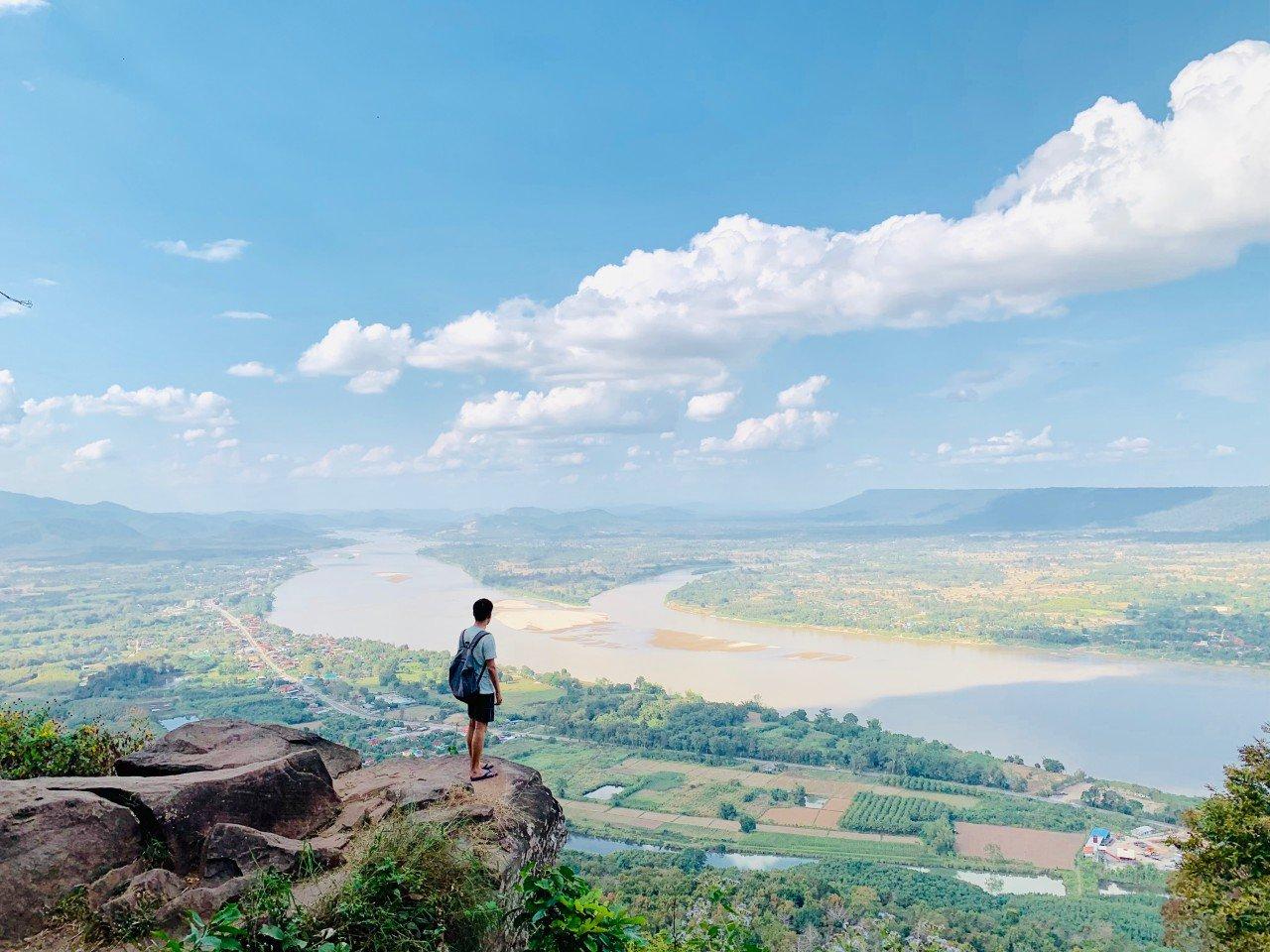 【廊開景點推薦】走上天空步道鳥瞰泰寮邊境 Wat Pha Tak Suea Skywalk