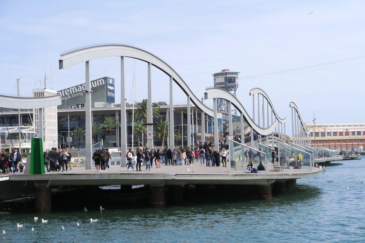 巴塞隆納免費景點 La Rambla de Mar