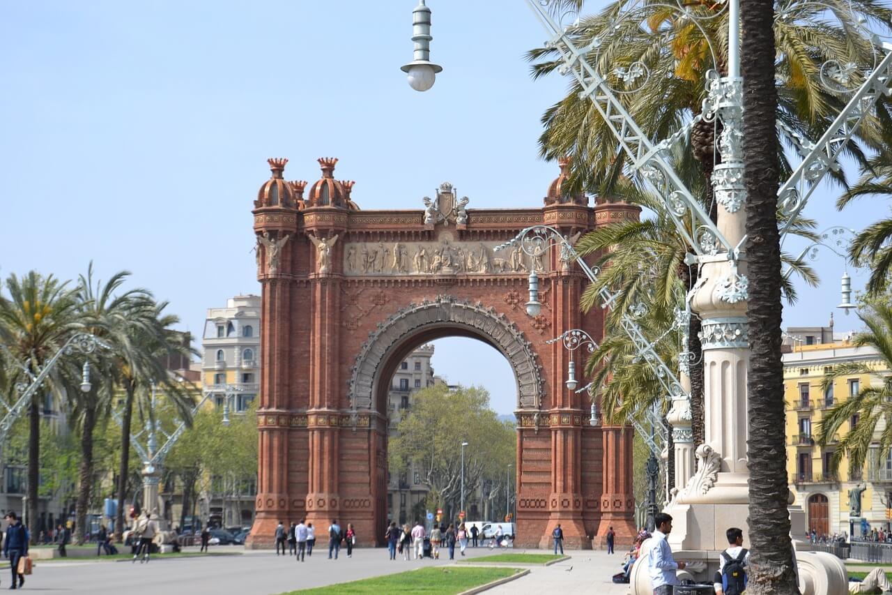 巴塞隆納免費景點 凱旋門