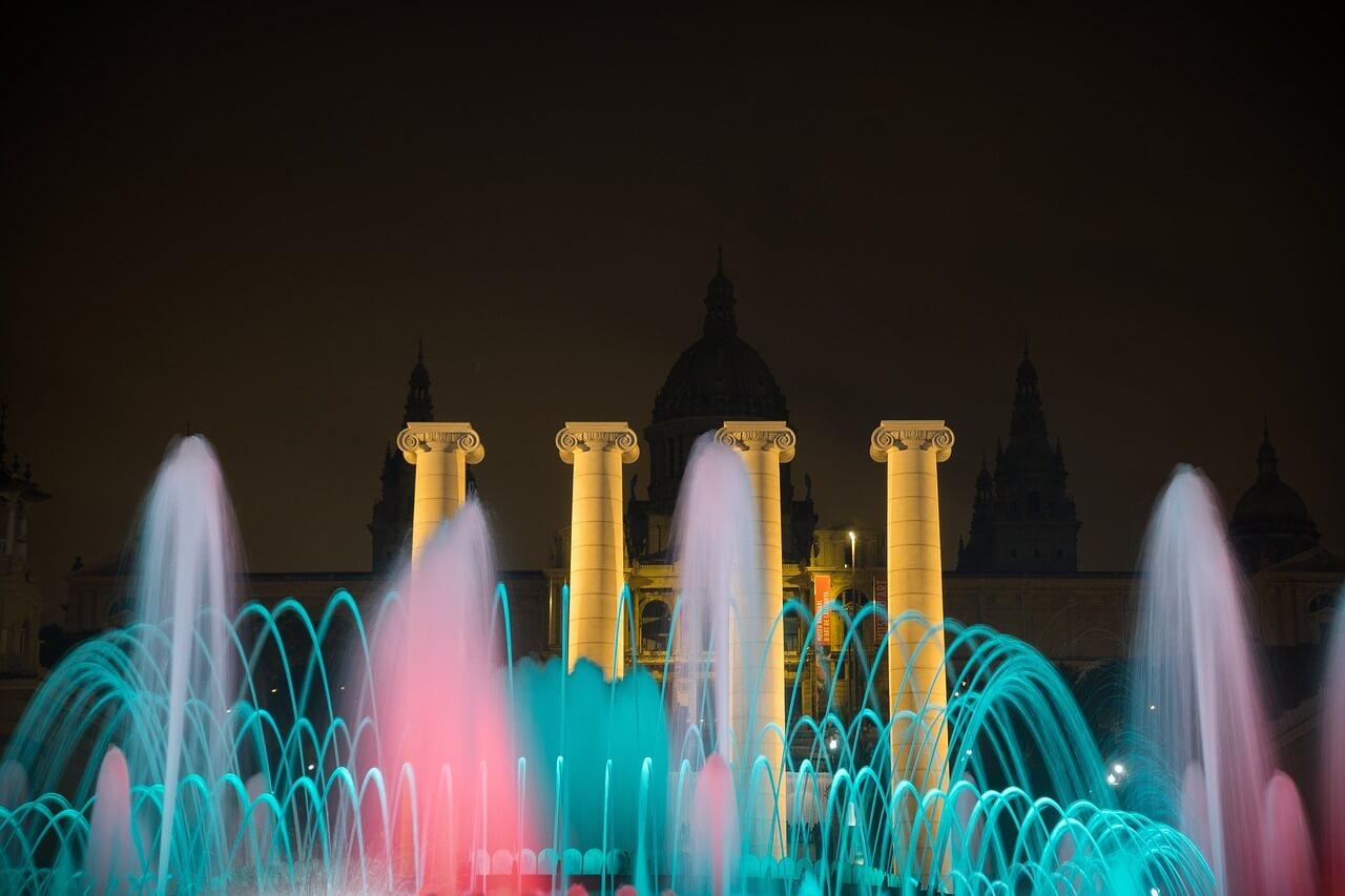 巴塞隆納免費景點 魔幻噴泉