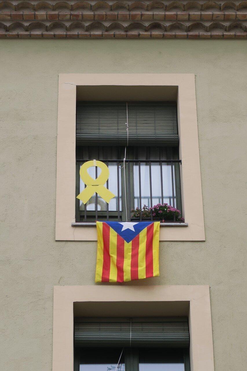 加泰隆尼亞獨立運動旗幟 黃絲帶