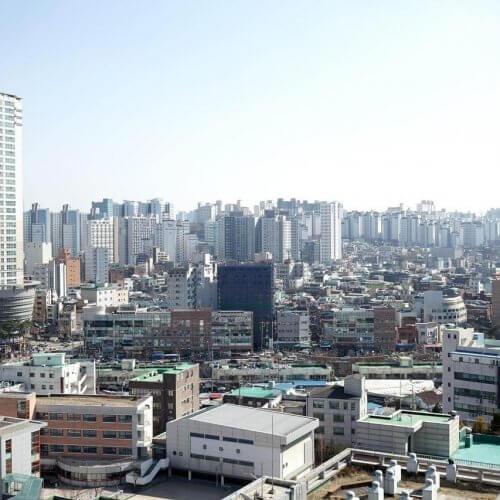 窗外首爾城市景觀