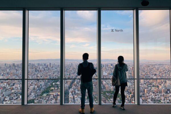 阿倍野HARUKAS 300展望台 落地窗